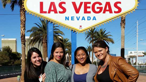 Visiting the famous Las Vegas with friends