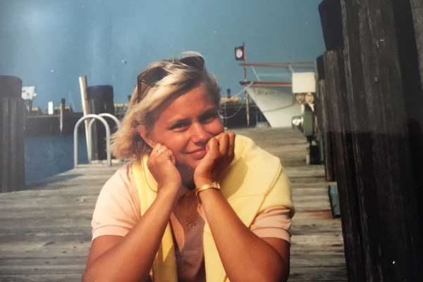 Ulla in Cape Cod during the summer of 1988