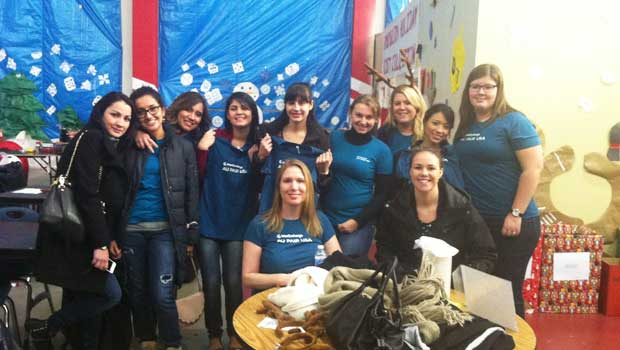 Fairfield County au pairs at the Inspirica volunteering event.