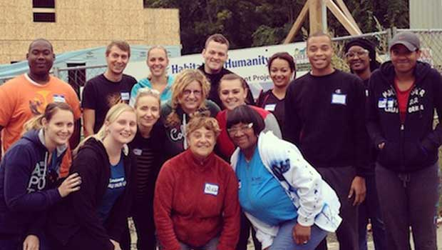 Albany, Schenectady and Berkshires Au Pairs Volunteer at Habitat for Humanity
