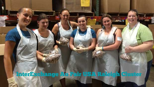 Raleigh Au Pairs Volunteer to End Hunger