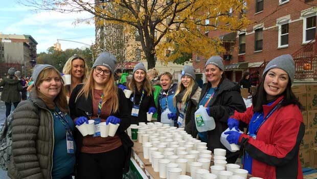 Au Pairs Volunteer at the Famous NYC Marathon