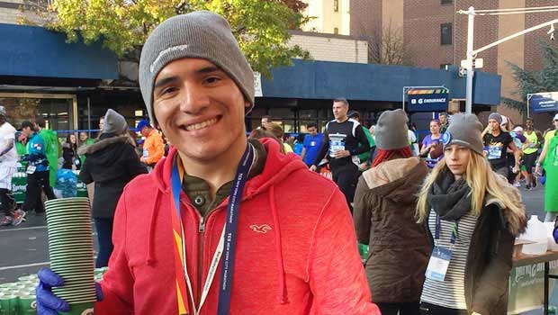 InterExchange volunteer at NYC Marathon