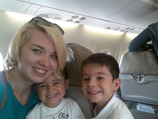 Magda and her host kids traveling