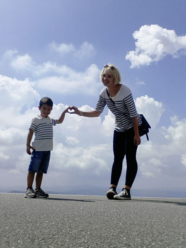 Magda and her host kid