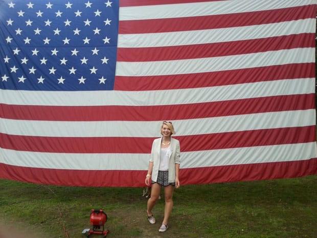 Magda celebrating her time in the U.S