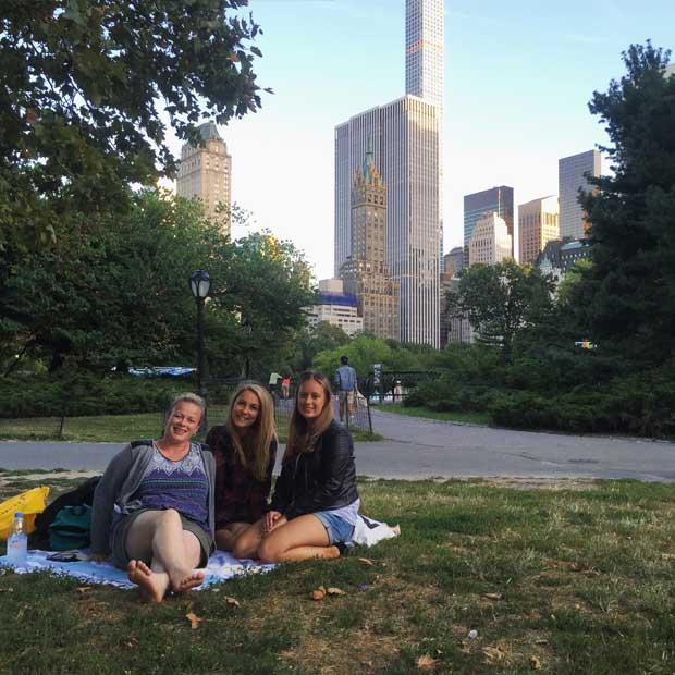 In Central Park with Friends