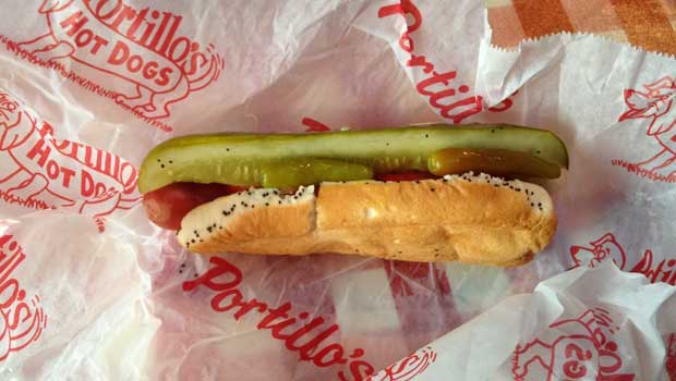 Don't go to Chicago without trying a Portillo's Hot Dog!