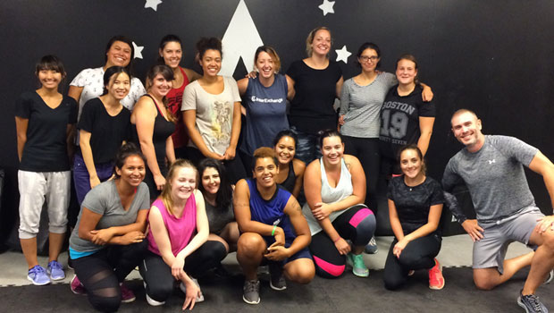 Au Pairs with Krav Maga instructor Molotov Mitchell