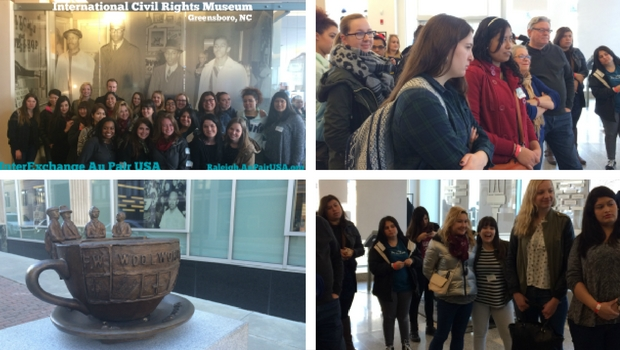 Au Pairs visit International Civil Rights Museum