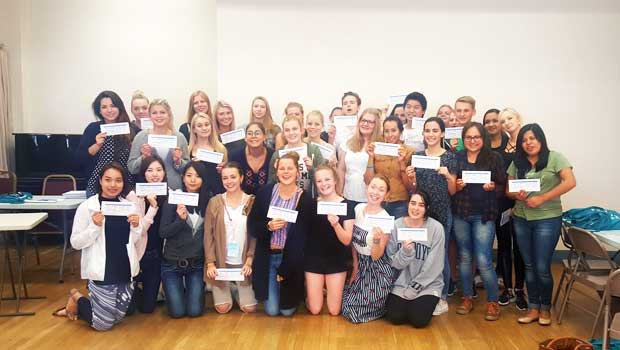 Au pairs with their CPR certifications