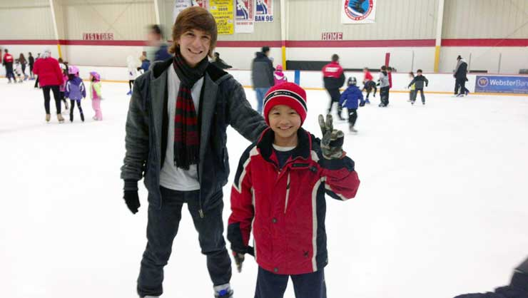 The holidays are a great time to try new activities like ice skating!
