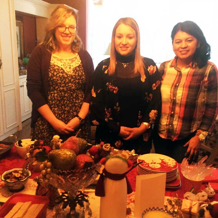Au pairs were reminded of traditions from their home countries.