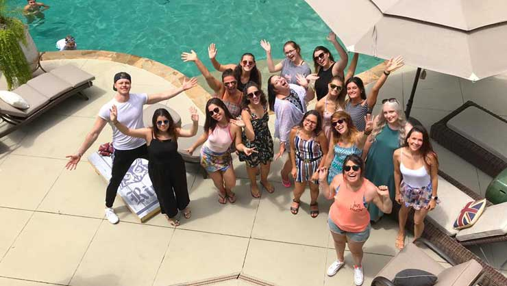 Metro Atlanta au pairs welcomed five new au pairs at a pool party.