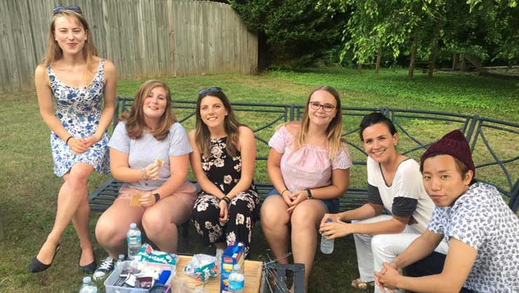 Atlanta au pairs had a classic American cookout.