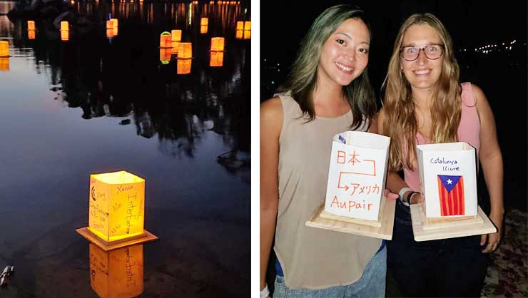 Au pairs in San Diego attended a lantern festival.