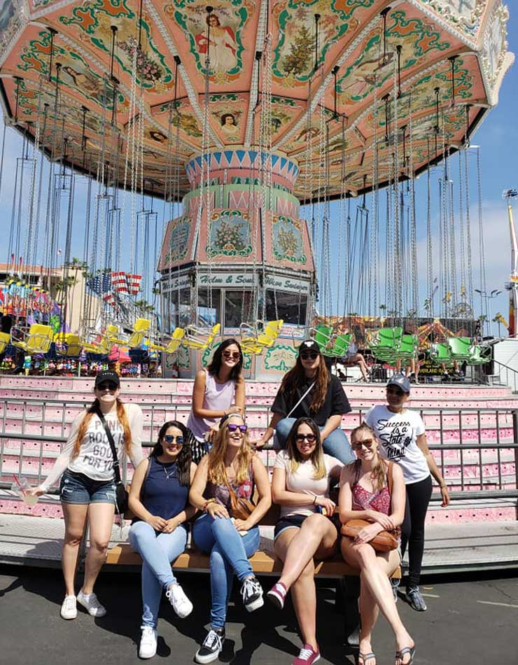 Au pairs in San Diego when to the carnival.