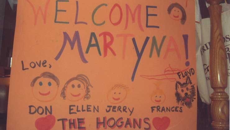 Your au pair will probably keep her welcome sign all year long.