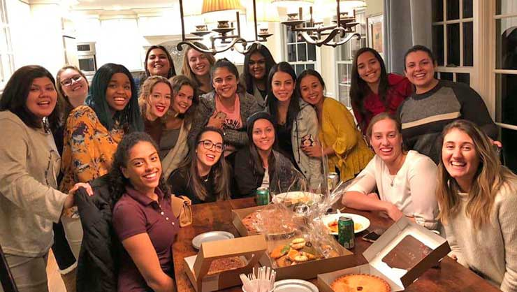 Long Island au pairs did a Thanksgiving pie taste test.