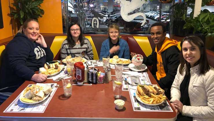 South Jersey au pairs enjoyed a classic American diner.