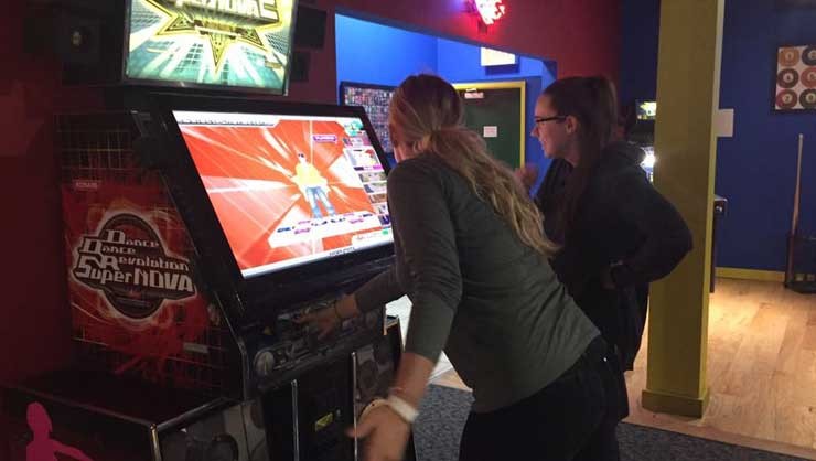 New Jersey au pairs found a classic arcade.