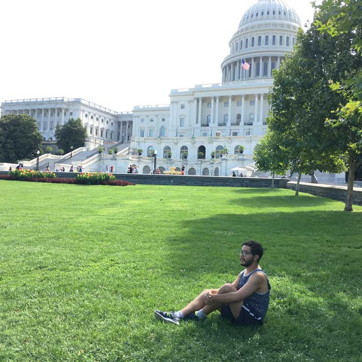 The Capitol Building reminded Lucas of his favorite American TV shows!
