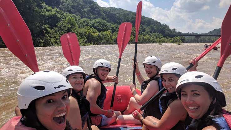 Au Pairs Go White Water Rafting