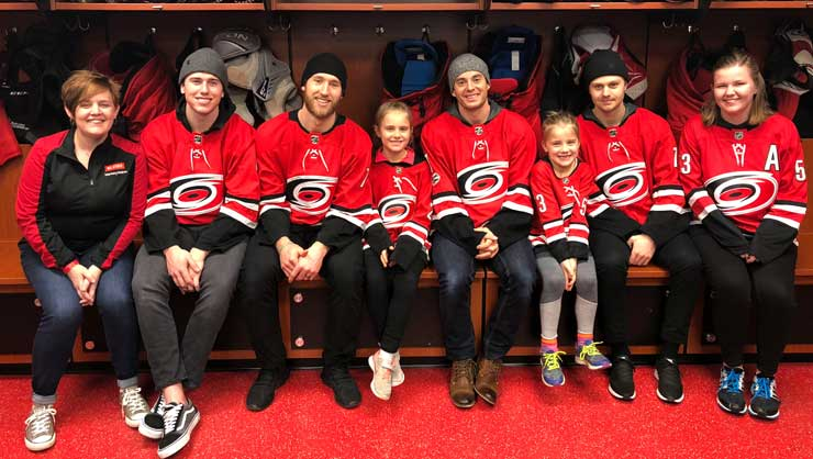 The Jacobs and Juliane even got to meet their favorite team.