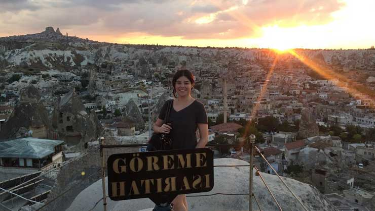 Lorena in Goreme, Turkey.