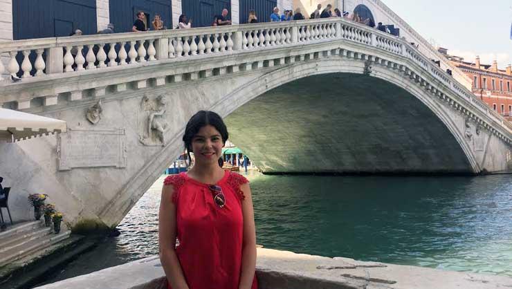 Lorena in Venice, Italy.