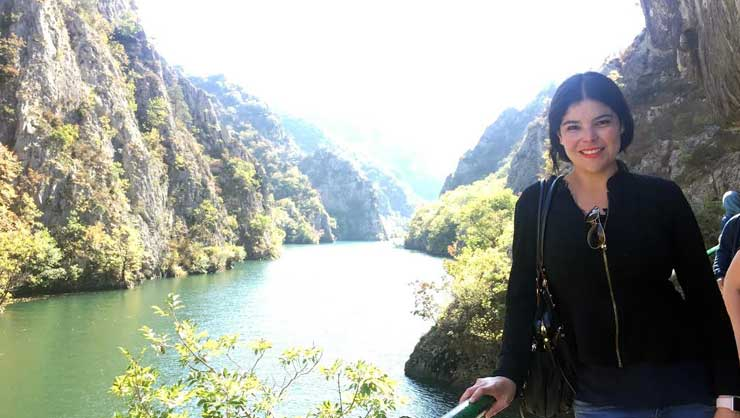 Lorena in Matka Canyon, Macedonia.