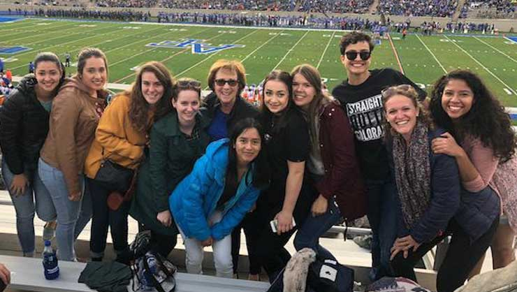 Au pairs in Denver attended a football game at the U.S. Air Force Academy.