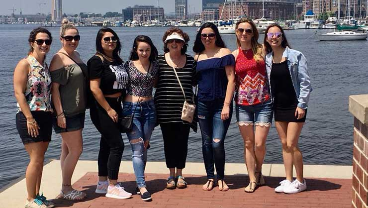 Baltimore au pairs explored Fells Point, the harbor front in their city.