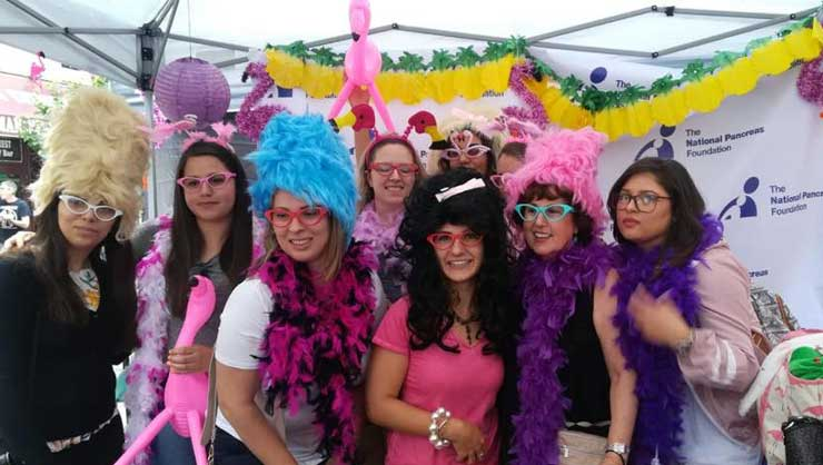 Au pairs in Baltimore dressed up at a local festival.