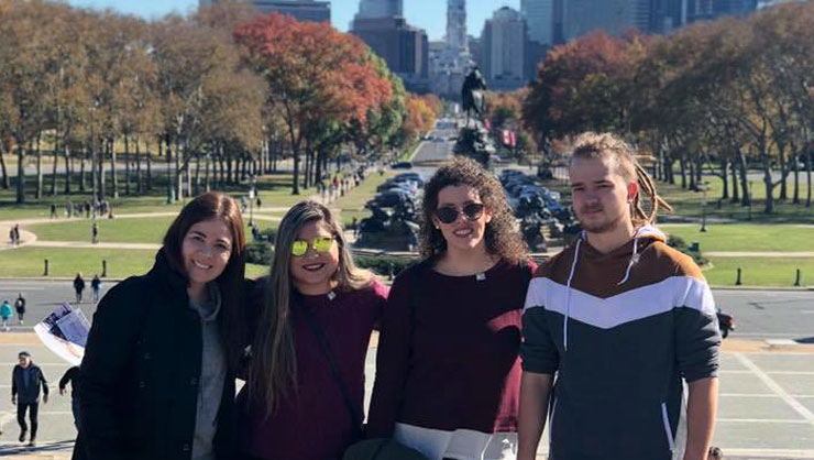 Philadelphia au pairs enjoyed a day out in the city.