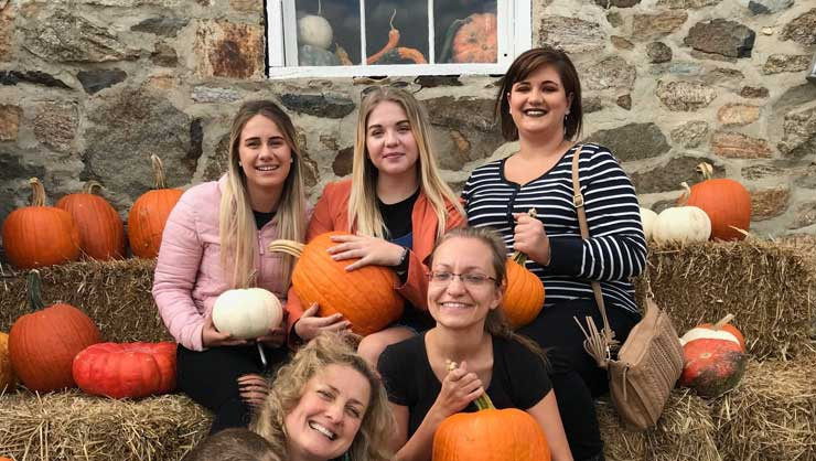 International Au Pairs Get Festive For Fall