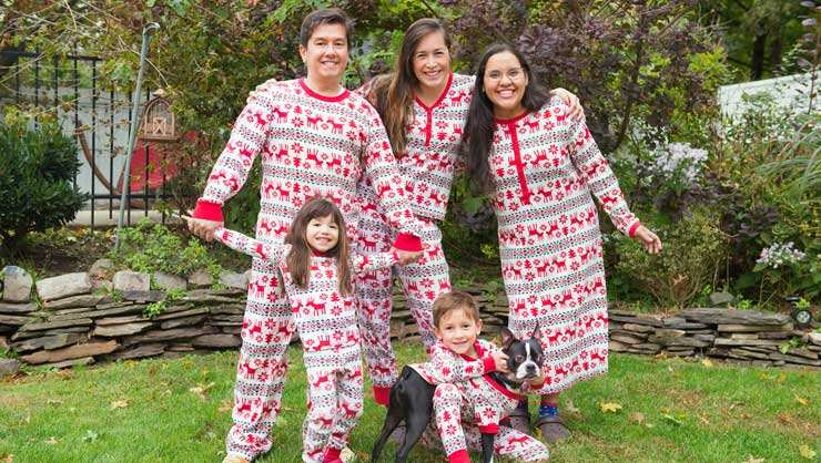 What's more fun than matching Christmas pajamas?