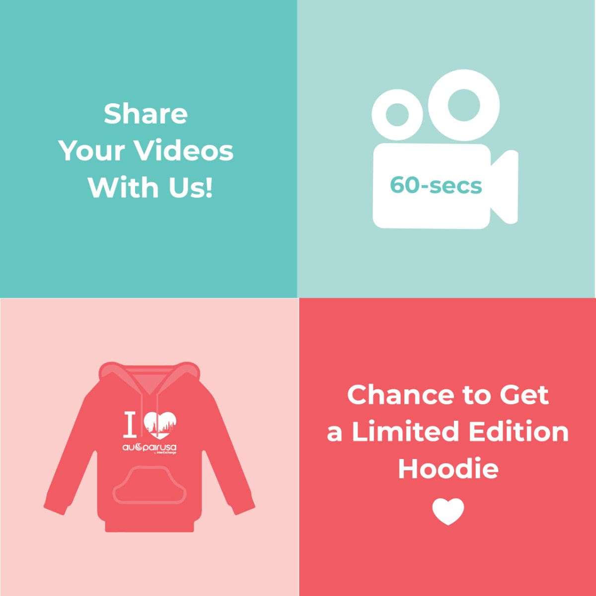 Share your videos with us for a chance to receive a limited edition hoodie!