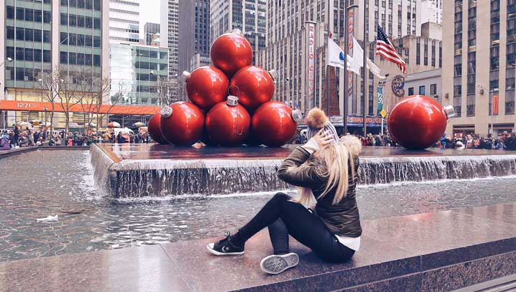 Seeing New York City at Christmas was on Sylvana's bucket list.