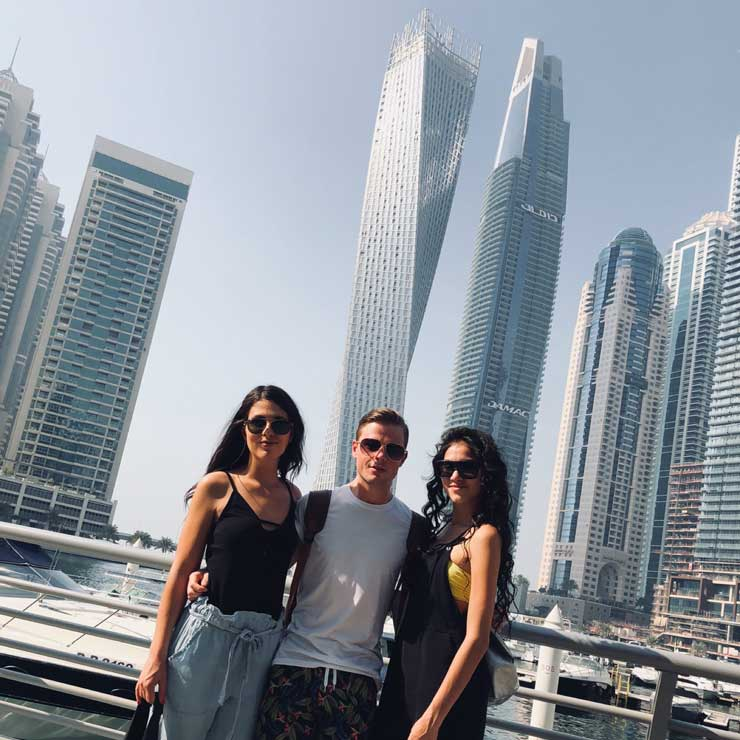 Adrian is now in Dubai working for Emirates.