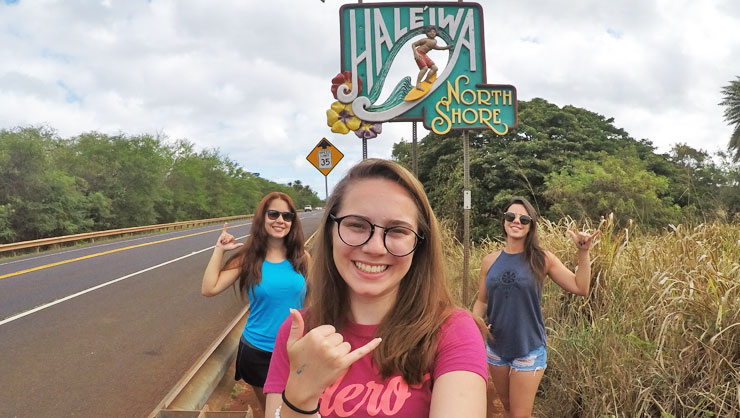 While in the USA, Gabi has traveled to many places including Hawaii.