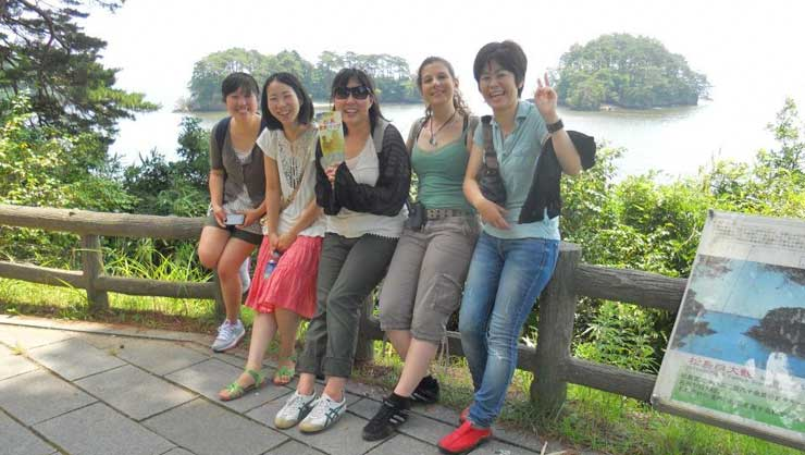 Amber made lifelong friends in Japan.