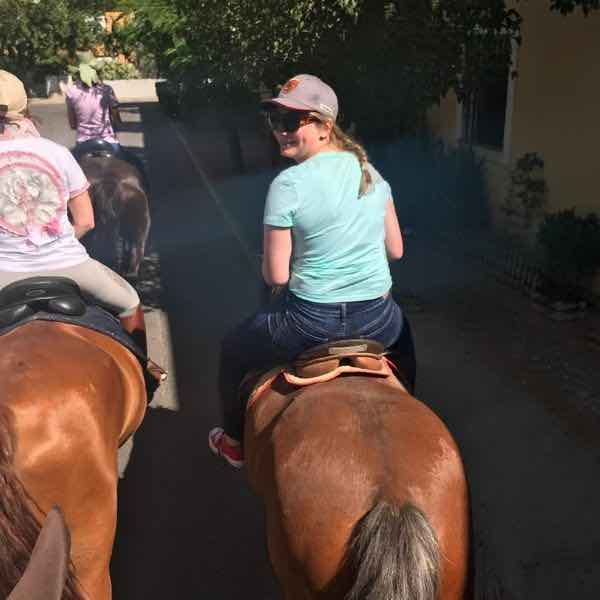 Ainsley T. Horseback riding in the Aranjuez countryside