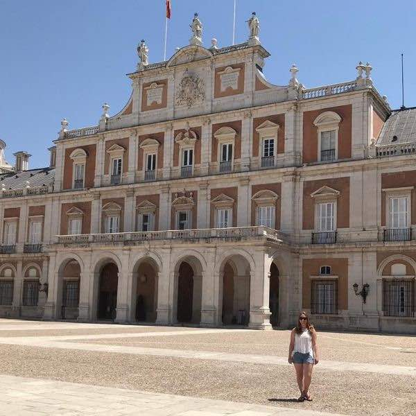 Ainsley T. Standing in front of the Royal Palace of Aranjuez