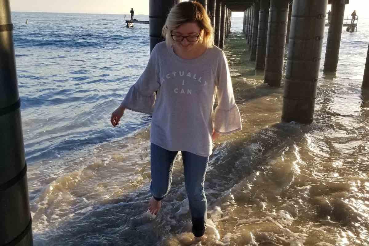 Under the boardwalk at Coogee Beach, Perth, Western Australia
