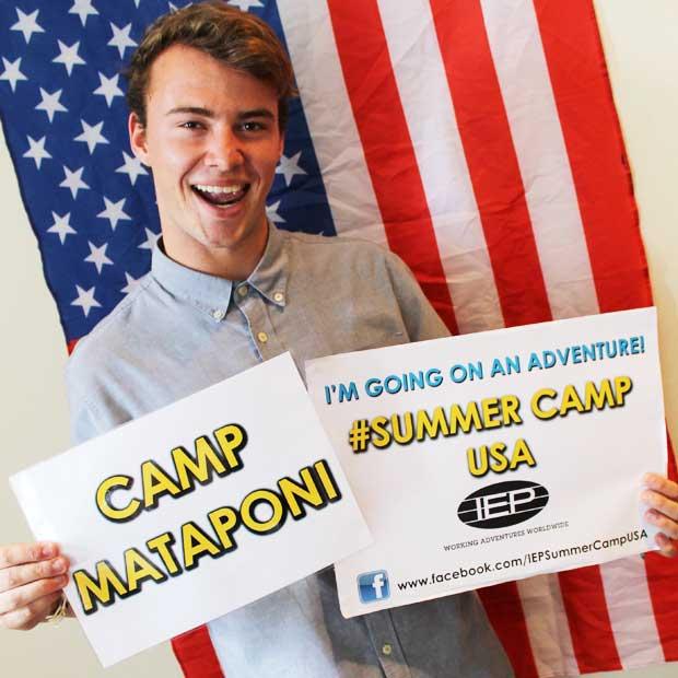A happy participant secures his spot at Camp Mataponi!