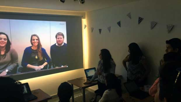 Our team meets the 2017 Bolivian participants virtually from New York.