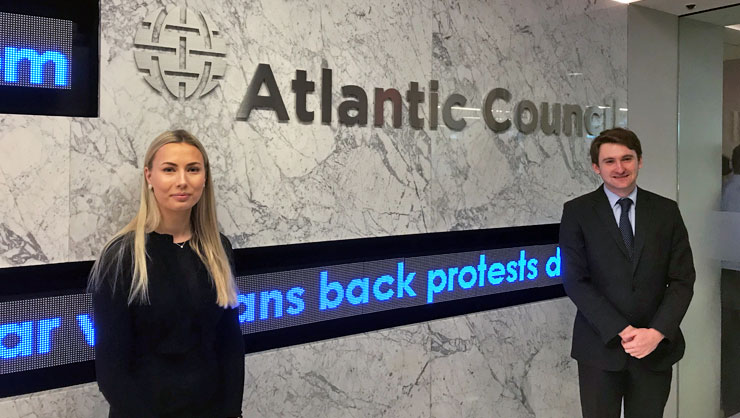 InterExchange Interns Marlene W. from Sweden and Alexander S. from the U.K. used their resources to land an internship at the Atlantic Council!