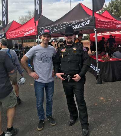 Ferran and a Sherrif at a Fair