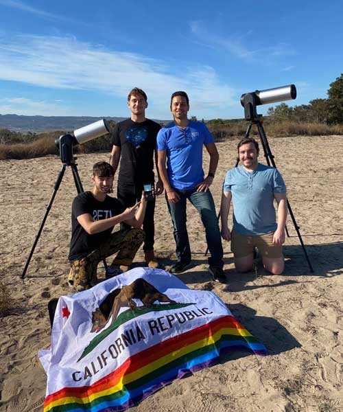 Joe A., an Aerospace Engineering intern from France, is currently completing his program with SETI Institute in California